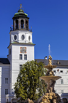 Austria, Salzburg, View of Residenz Fountain - EJWF000035