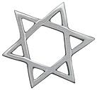 Jewish Symbol on white background, close up - WBF001634