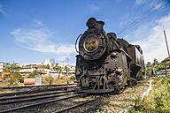 India, Tamil Nadu, Nilgiri Mountain Railway passing through rail track - MBE000555