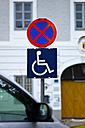Austria, Sign for handicapped parking - EJWF000117