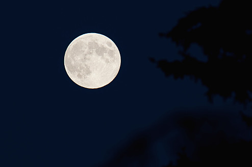 Germany, Bavaria, Full moon, close up - UMF000462