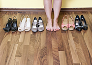 Germany, Berlin, Young woman feet with shoes, close up - BFRF000067