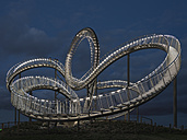 Germany, Duisburg, View of Tiger and Turtle art installation at Angerpark - HHEF000025