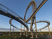 Germany, Duisburg, View of Tiger and Turtle art installation at Angerpark - HHEF000027