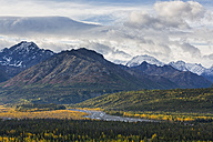 USA, Alaska, View of Chugach Mountains, Matanuska Valley and Matanuska River - FOF004361