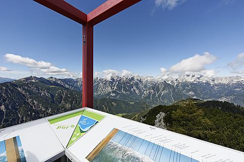 Austria, Upper Austria, Observation deck on Hutterer Hoess Mountain - SIE002975