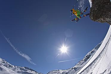 Austria, North Tirol, Mature man ski jumping - FFF001317