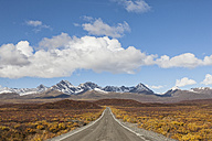 USA, Alaska, View of Denali Highway in autumn - FOF004403