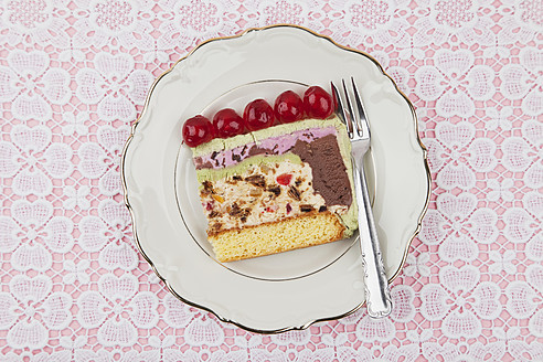 Plate of ice cream cake - GWF002014