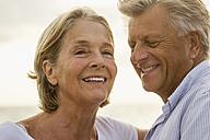 Spain, Senior couple at the sea - JKF000030
