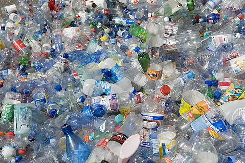 Germany, Empty plastic bottles recycling - ASF004701