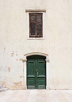 Croatia, Krk, Closed door at Vela placa - WWF002595