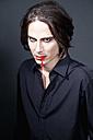Man with vampire make up, close up - ND000286