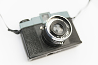 Analog plastic camera on white background, close up - TC003216