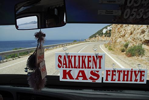 Turkey, Fethiye, Taxi on road between Kas - MIZ000061