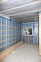 Europe, Germany, Rhineland Palatinate, Interior construction with thermal insulation - CSF016133