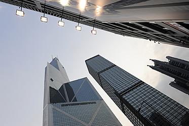 China, Hong Kong, Skyscrapers in Chung Wan at Central District - MIZ000197