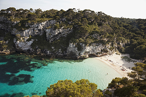 Spain, Menorca, View of Cala Macarelleta - MS002784