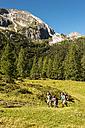 Austria, Salzburg, Family walking on mountains at Altenmarkt Zauchensee - HHF004361