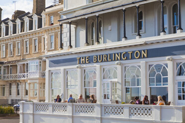 England, Sussex, Worthing, People at Burlington Hotel - WD001585