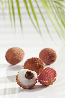 Litchi on white background, close up - CSF016662
