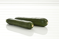 Zucchini on white background, close up - CSF016739