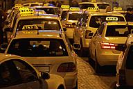 Germany, Bavaria, Munich, Illuminated sign on taxi showing availability - TCF003306