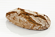 Crusty bread on white background, close up - CSF016940