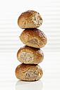 Stack of rye bread, close up - CSF016977