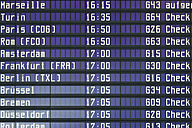 Germany, Arrival departure board at airport - TCF003327