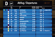 Germany, Arrival departure board at airport - TC003330