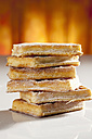 Wafers with icing sugar, close up - CSF017356