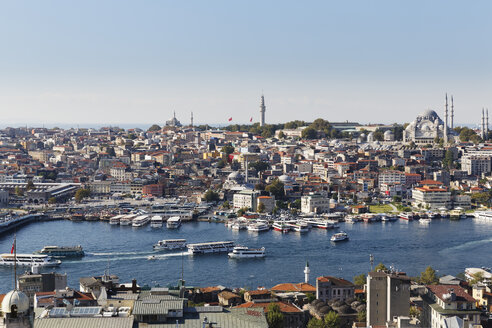 Turkey, Istanbul, View from Galata Tower to Golden Horn - SIEF003405