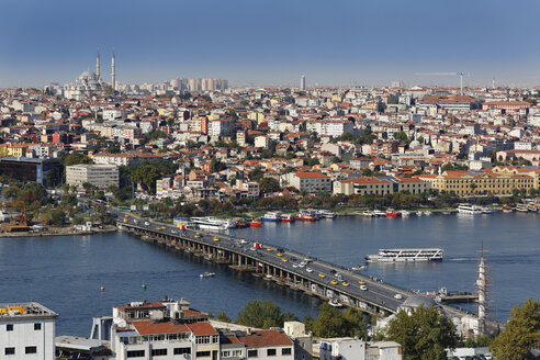 Turkey, Istanbul, View from Galata Tower and Fatih Mosque in background - SIE003414
