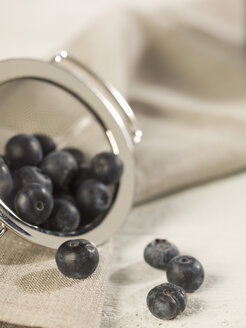 Blueberries in sieve, close up - CH000017