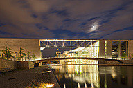 Germany, Berlin, Legislative building of Paul Loebe haus at night - FOF005029