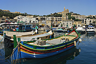 Malta, Fishing boats in harbour of Mgarr - MIZ000247