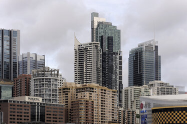 Australia, New South Wales, Sydney, View of Central Business district at darling harbour - MIZ000265