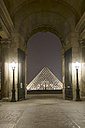 France, Paris, Musee du Louvre museum by night - ON000009