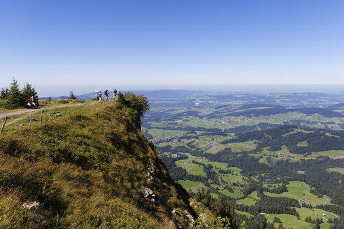 Austria, Vorarlberg, View from Niedere mountain towards Lingenau - SIE003548