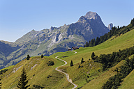 Austria, Vorarlberg, View of Hochkunzelspitze mountain at Bregenz Forest - SIEF003585