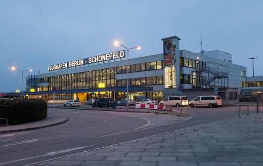 Germany, Berlin, View of Berlin Schonefeld Airport  at dusk - BFR000175
