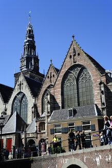 Netherlands, Amsterdam, View of Oude Kerk church - MIZ000272