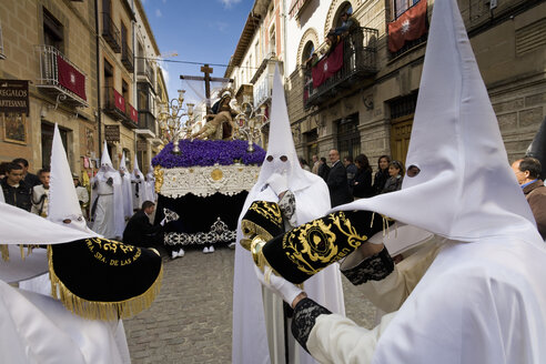 Spain, Andalusia, Easter procession in Calle Real in Ubeda - MS002875
