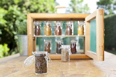 Germany, Duesseldorf, Variety of  spices in jar - KVF000018
