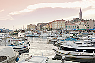 Croatia, View of harbour and Sv Eufremija Church at Rovinj - MS002894