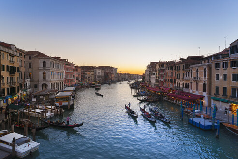 Italy, Venice, View of Grand Canal at dusk - HSIF000150