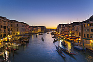 Italy, Venice, View of Grand Canal at dusk - HSIF000152