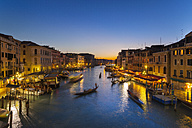 Italy, Venice, View of Grand Canal at dusk - HSIF000154