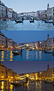 Italy, Venice, View of Grand Canal at dusk - HSI000143